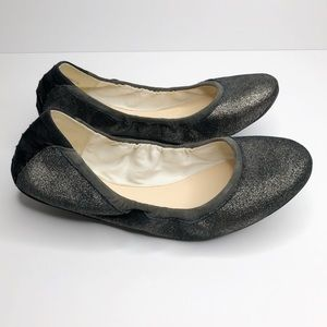 Cole Haan Grand OS charcoal shimmer flat-9B